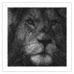 Tableau needle Lion